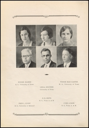 Page 12, 1933 Edition, Stephen F Austin High School - Bronco Yearbook (Bryan, TX) online yearbook collection