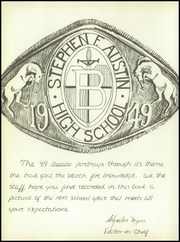 Page 10, 1949 Edition, Stephen F Austin High School - Bronco Yearbook (Bryan, TX) online yearbook collection