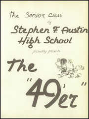 Page 7, 1949 Edition, Stephen F Austin High School - Bronco Yearbook (Bryan, TX) online yearbook collection