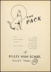 Page 7, 1947 Edition, Dilley High School - Wolf Den Yearbook (Dilley, TX) online yearbook collection