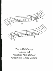 Page 5, 1988 Edition, Prairiland High School - Patriot Yearbook (Pattonville, TX) online yearbook collection