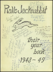 Page 5, 1949 Edition, Ralls High School - Jackrabbit Yearbook (Ralls, TX) online yearbook collection