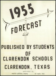 Page 4, 1955 Edition, Clarendon High School - Forecast Yearbook (Clarendon, TX) online yearbook collection