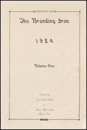 Page 5, 1924 Edition, Mason High School - Branding Iron Yearbook (Mason, TX) online yearbook collection