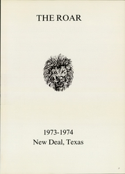 Page 5, 1974 Edition, New Deal High School - Roar Yearbook (New Deal, TX) online yearbook collection