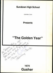 Page 5, 1979 Edition, Sundown High School - Gusher Yearbook (Sundown, TX) online yearbook collection