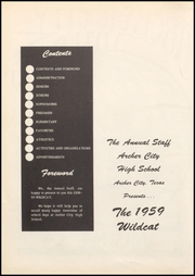 Page 6, 1959 Edition, Archer City High School - Wildcat Yearbook (Archer City, TX) online yearbook collection