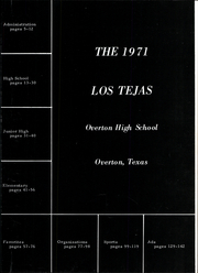Page 7, 1971 Edition, Overton High School - Los Tejas Yearbook (Overton, TX) online yearbook collection