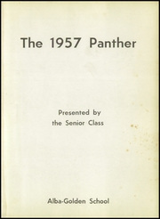 Page 5, 1957 Edition, Alba Golden High School - Panther Yearbook (Alba, TX) online yearbook collection