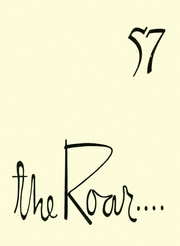 Page 1, 1957 Edition, Carrollton High School - Roar Yearbook (Carrollton, TX) online yearbook collection