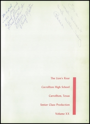 Page 5, 1959 Edition, Carrollton High School - Roar Yearbook (Carrollton, TX) online yearbook collection