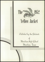 Page 7, 1952 Edition, Meridian High School - Yellow Jacket Yearbook (Meridian, TX) online yearbook collection