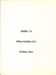 Page 5, 1975 Edition, Wilmer Hutchins High School - Eagle Yearbook (Hutchins, TX) online yearbook collection