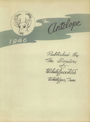 Page 7, 1946 Edition, Whiteface High School - Antelope Yearbook (Whiteface, TX) online yearbook collection