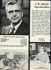 Page 8, 1979 Edition, Highland Park High School - Hornet Yearbook (Amarillo, TX) online yearbook collection