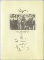 Page 7, 1949 Edition, Blue Ridge High School - Tiger Yearbook (Blue Ridge, TX) online yearbook collection