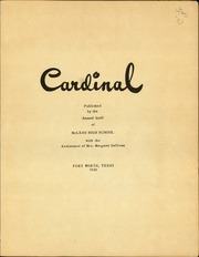 Page 3, 1949 Edition, McLean High School - Cardinal Yearbook (Fort Worth, TX) online yearbook collection