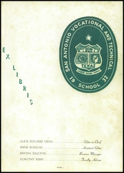 Page 5, 1954 Edition, San Antonio Vocational Technical School - Artisan Yearbook (San Antonio, TX) online yearbook collection