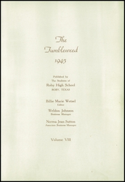 Page 9, 1945 Edition, Roby High School - Tumbleweed Yearbook (Roby, TX) online yearbook collection