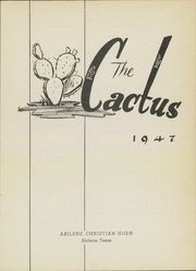 Page 7, 1947 Edition, Abilene Chrisitian High School - Cactus Yearbook (Abilene, TX) online yearbook collection