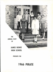 Page 5, 1966 Edition, James Bowie High School - Pirate Yearbook (Simms, TX) online yearbook collection
