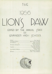 Page 5, 1956 Edition, Granger High School - Lions Paw Yearbook (Granger, TX) online yearbook collection