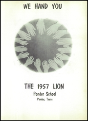 Page 7, 1957 Edition, Ponder High School - Lion Yearbook (Ponder, TX) online yearbook collection