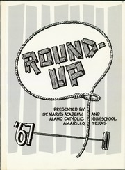 Page 5, 1967 Edition, Alamo Catholic High School - RoundUp Yearbook (Amarillo, TX) online yearbook collection