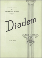 Page 5, 1958 Edition, Marian High School - Diadem Yearbook (Bellaire, TX) online yearbook collection