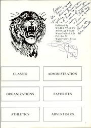 Page 5, 1982 Edition, Water Valley High School - Wildcat Yearbook (Water Valley, TX) online yearbook collection