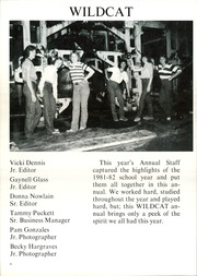 Page 8, 1982 Edition, Water Valley High School - Wildcat Yearbook (Water Valley, TX) online yearbook collection