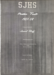 Page 5, 1958 Edition, St Jo High School - Panther Trails Yearbook (St Jo, TX) online yearbook collection