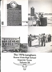 Page 5, 1976 Edition, Buena Vista High School - Longhorn Yearbook (Imperial, TX) online yearbook collection