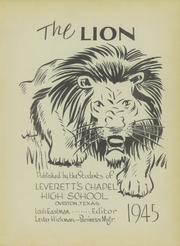 Page 7, 1945 Edition, Leveretts Chapel School - Lion Yearbook (Overton, TX) online yearbook collection