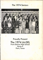 Page 5, 1974 Edition, Delmar High School - La Del Yearbook (Paris, TX) online yearbook collection