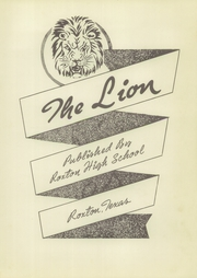 Page 7, 1951 Edition, Roxton High School - Lion Yearbook (Roxton, TX) online yearbook collection