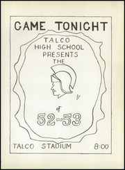 Page 6, 1953 Edition, Talco High School - Trojan Yearbook (Talco, TX) online yearbook collection