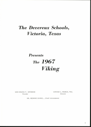 Page 5, 1967 Edition, Devereux School - Viking Yearbook (Victoria, TX) online yearbook collection