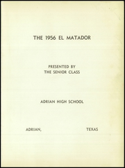 Page 5, 1956 Edition, Adrian High School - El Matador Yearbook (Adrian, TX) online yearbook collection