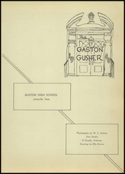 Page 7, 1946 Edition, Gaston High School - Gusher Yearbook (Joinerville, TX) online yearbook collection