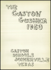 Page 5, 1950 Edition, Gaston High School - Gusher Yearbook (Joinerville, TX) online yearbook collection