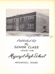 Page 7, 1949 Edition, Megargel High School - Mustang Yearbook (Megargel, TX) online yearbook collection