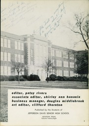 Page 7, 1954 Edition, Jefferson Davis High School - Beauvoir Yearbook (Houston, TX) online yearbook collection