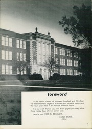 Page 9, 1954 Edition, Jefferson Davis High School - Beauvoir Yearbook (Houston, TX) online yearbook collection