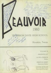 Page 5, 1960 Edition, Jefferson Davis High School - Beauvoir Yearbook (Houston, TX) online yearbook collection