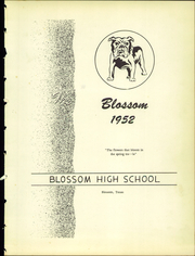 Page 7, 1952 Edition, Blossom High School - Yearbook (Blossom, TX) online yearbook collection
