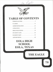 Page 5, 1978 Edition, Eola High School - Eagle Yearbook (Eola, TX) online yearbook collection