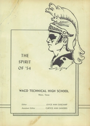 Page 7, 1954 Edition, Waco Technical High School - Spirit Yearbook (Waco, TX) online yearbook collection