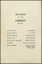 Page 6, 1941 Edition, Girard High School - Cardinal Yearbook (Girard, TX) online yearbook collection