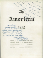 Page 5, 1952 Edition, American Fork High School - American Yearbook (American Fork, UT) online yearbook collection